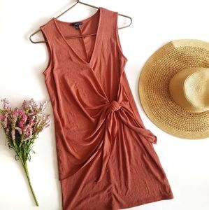 Anthropologie | Drew Rust Knot Front Shift Dress